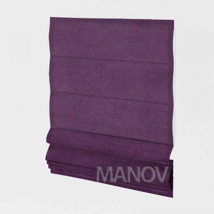 Римские шторы Джуси Велюр фиолетовый 98