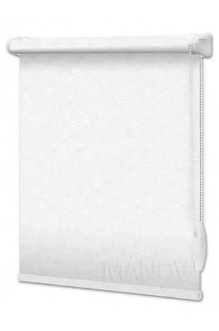 Рулонные шторы Блэкаут Afina Белый (2 цвета) Все Размеры