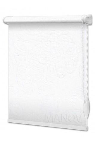 Рулонные шторы Арабеска Белый (6 цветов) Все Размеры