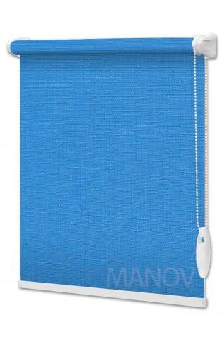Рулонные шторы LEN Синий (25 цветов) Под Ваш Размер