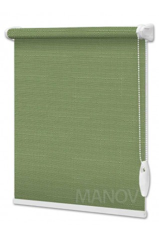 Рулонные шторы LEN Зеленый (25 цветов) Под Ваш Размер
