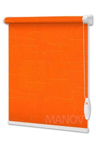 Рулонные шторы Топаз Оранжевый (8 цветов) Все Размеры