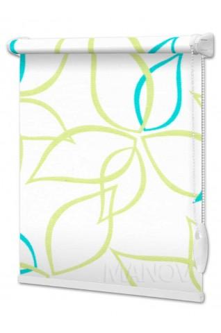 Рулонные шторы Abris Зеленый (2 цвета) Под Ваш Размер