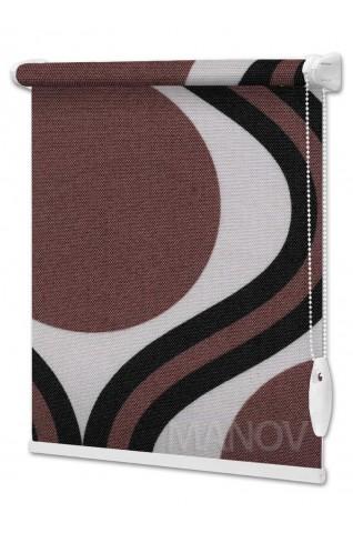 Рулонные шторы Barvy Коричневый (2 цвета) Все Размеры
